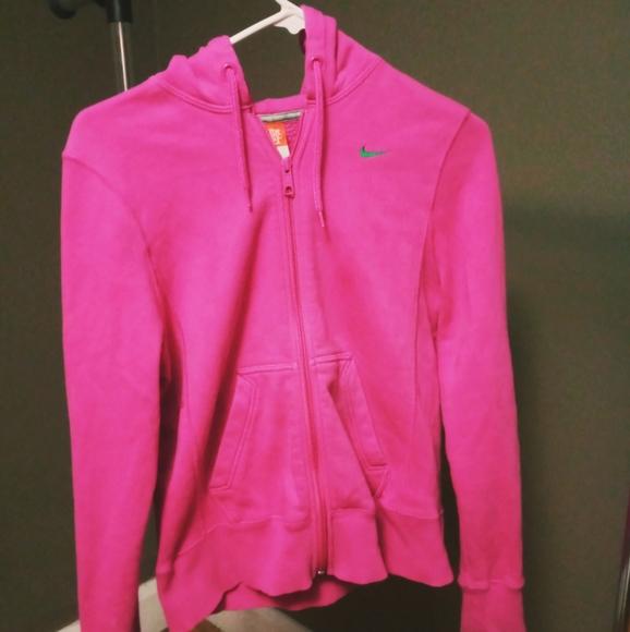 Nike Tops | Hot Pink Hoodie | Poshmark